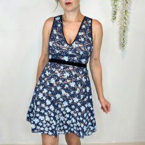 NWT FOXIEDOX Felicia 3D floral appliqué dress 1182